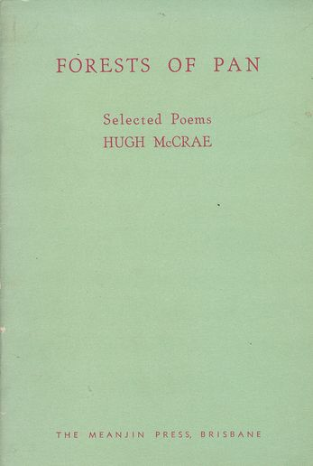 FORESTS OF PAN. Hugh McCrae.