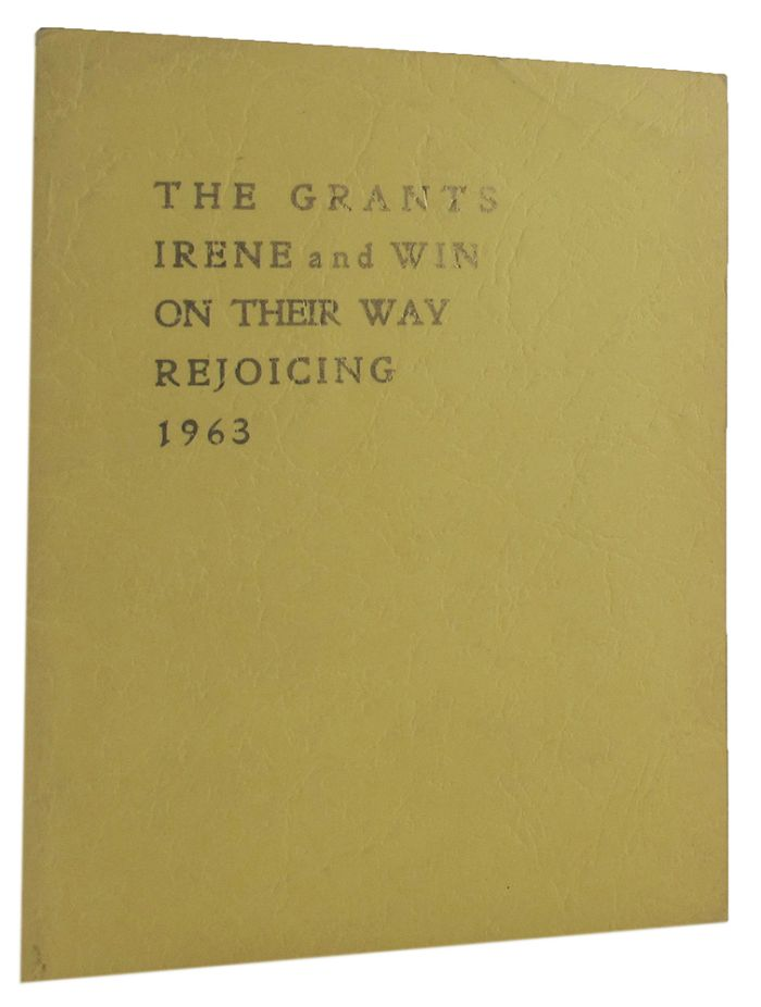 THE GRANTS ON THEIR WAY REJOICING. Irene Grant, Win.