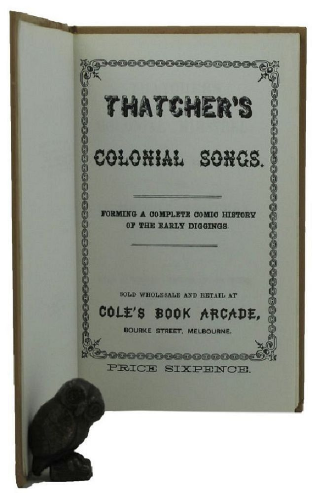 THATCHER'S COLONIAL MINSTREL:. Charles R. Thatcher.