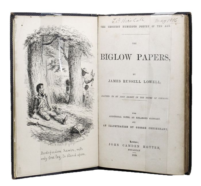 THE BIGLOW PAPERS. James Russell Lowell.