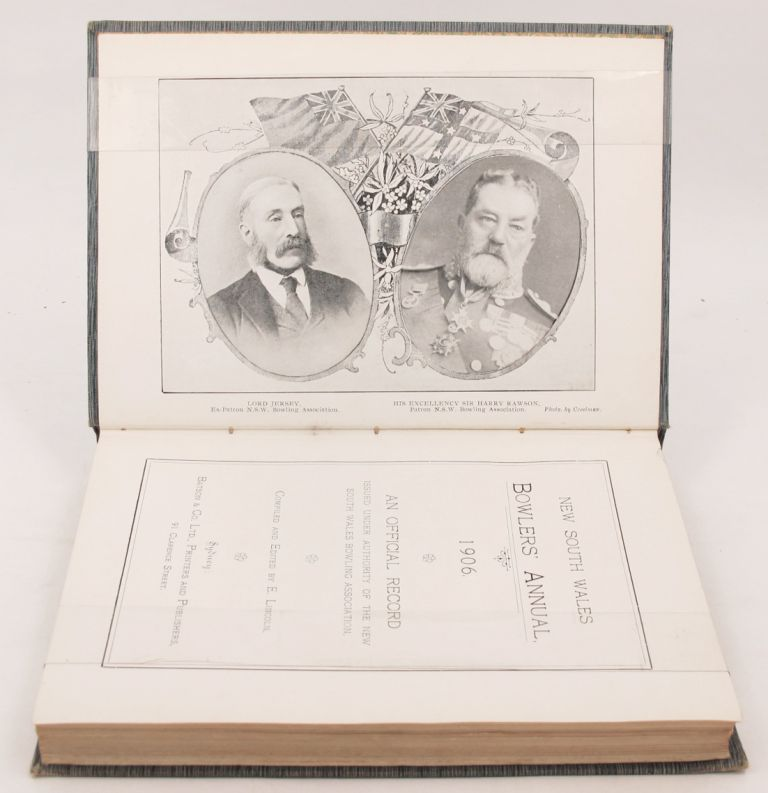 NEW SOUTH WALES BOWLERS' ANNUAL, 1906. E. and Lincoln, Compiler.