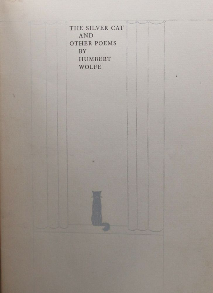 THE SILVER CAT AND OTHER POEMS. Humbert Wolfe.