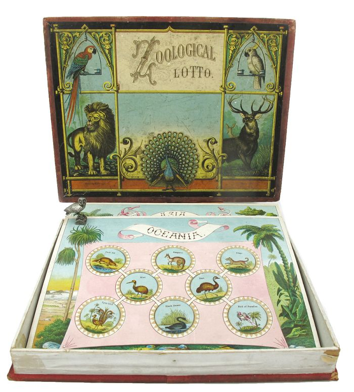ZOOLOGICAL LOTTO. Board Game.