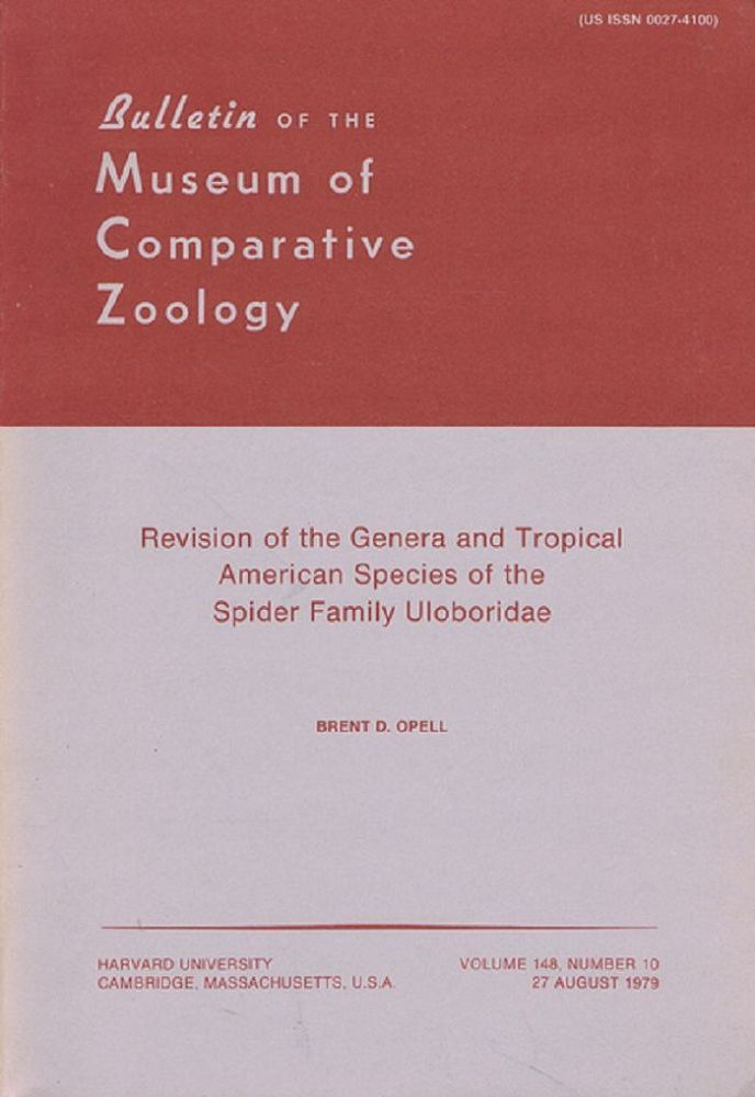 REVISION OF THE GENERA AND TROPICAL AMERICAN SPECIES OF THE SPIDER FAMILY ULOBORIDAE. Brent D. Opell.