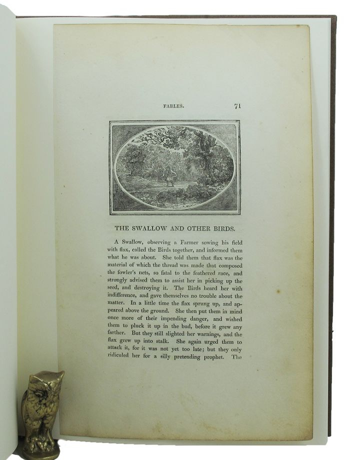THOMAS BEWICK & THE FABLES OF AESOP. Aesop Leaf Book, John W. Borden, Janet S. Krueger.