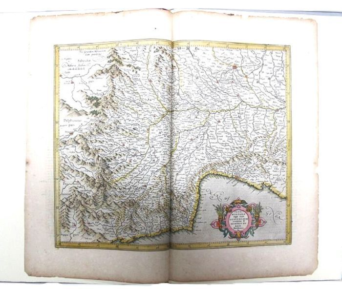 A LEAF FROM THE MERCATOR-HONDIUS WORLD ATLAS. 1619 Mercator-Hondius World Atlas, Maps.