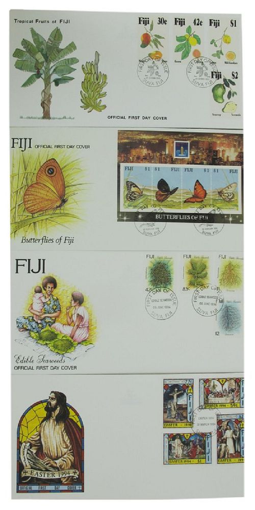 FIJI OFFICIAL FIRST DAY COVERS. Fiji First Day Covers.