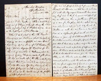 AUTOGRAPH LETTER, James P. O. Lesesne, Thos. B. Merry.