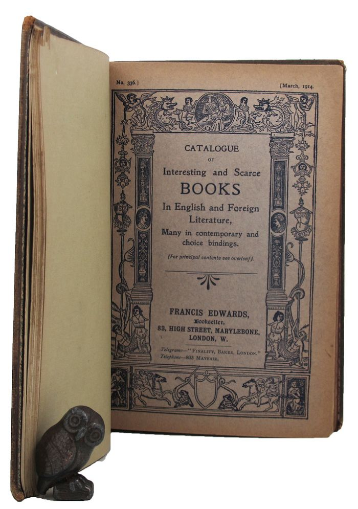 A BOUND COLLECTION OF BOOKSELLER'S CATALOGUES. Francis Edwards, John Bumpus, Edward, Hatchards.