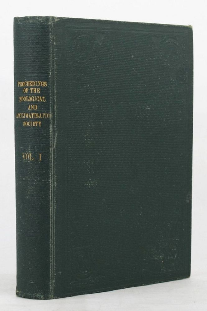 PROCEEDINGS OF THE ZOOLOGICAL AND ACCLIMATISATION SOCIETY OF VICTORIA, Zoological, Acclimatisation Society of Victoria.
