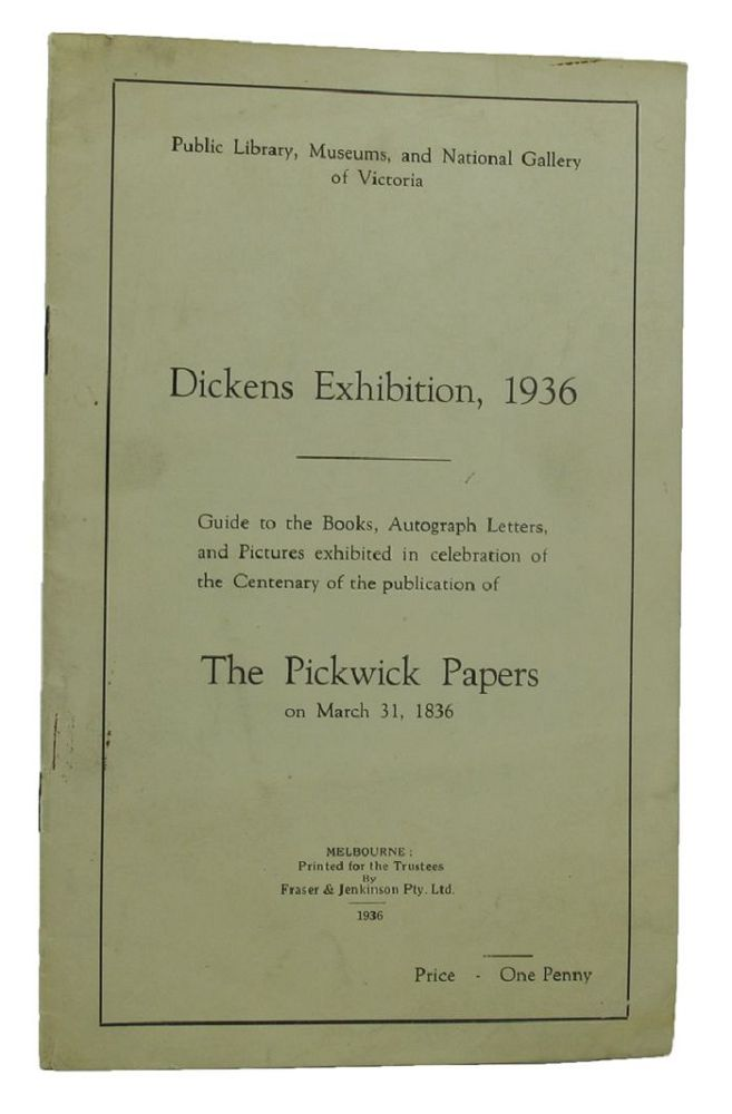DICKENS EXHIBITION, 1936. Charles Dickens.