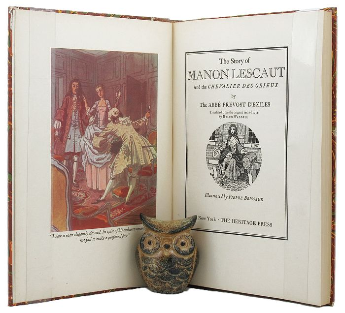 THE STORY OF MANON LESCAUT and the Chevalier des Grieux. The Abbe Prevost.