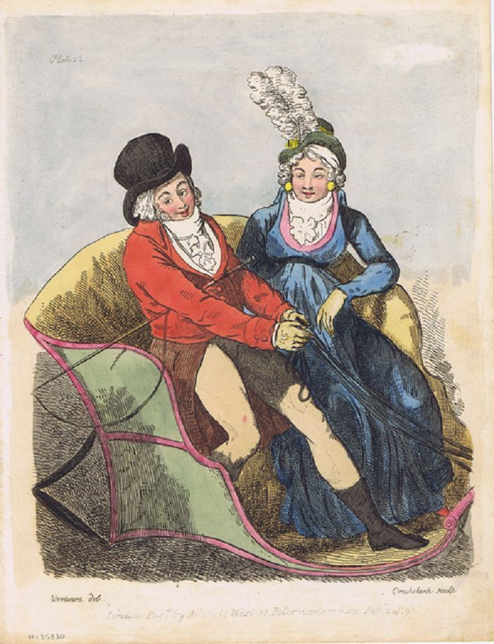 [CHARACTERS FROM HOLCROFT'S ROAD TO RUIN]. I. Cruikshank, Engraver.