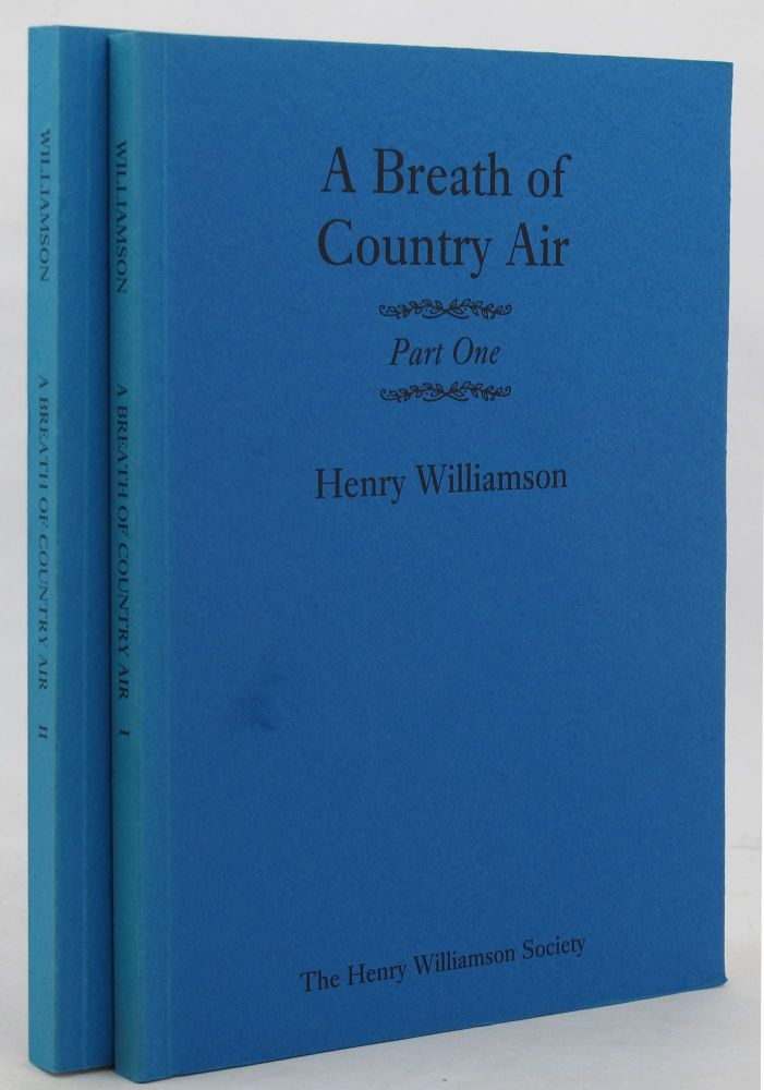 A BREATH OF COUNTRY AIR. Henry Williamson.