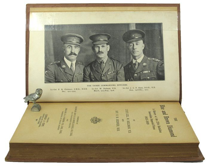 THE BLUE AND BROWN DIAMOND. A. I. F. 27th Battalion, Lieut.-Col Dollman, Sgt. H. M. Skinner.