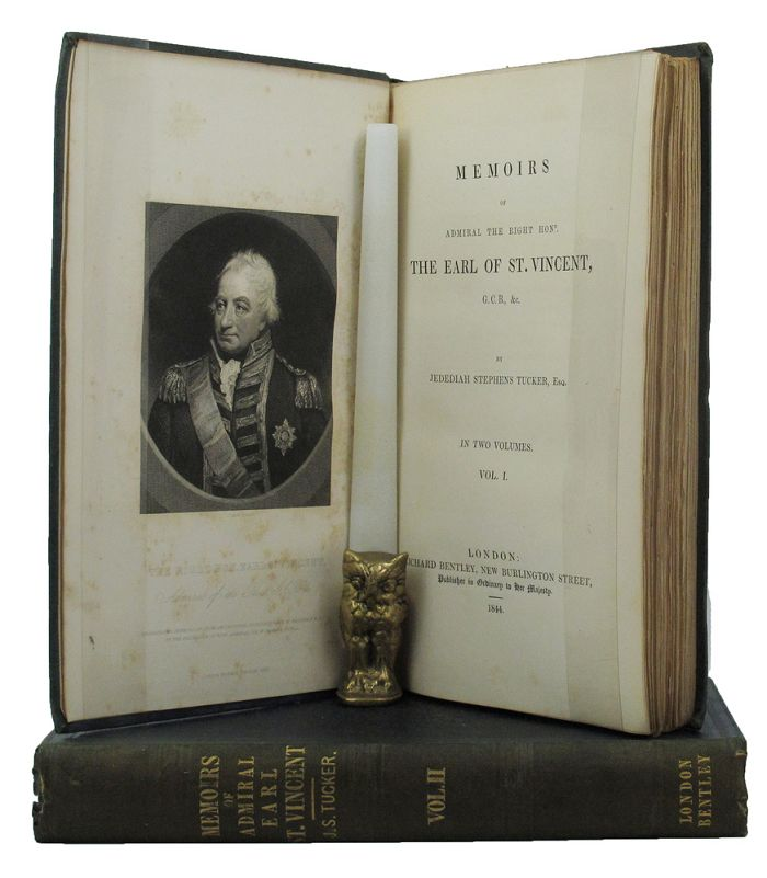 MEMOIRS OF ADMIRAL THE RIGHT HONR. THE EARL OF ST. VINCENT, G.C.B., &c. Admiral The Right Honr. The Earl of Vincent, Jedediah Stephens Tucker.