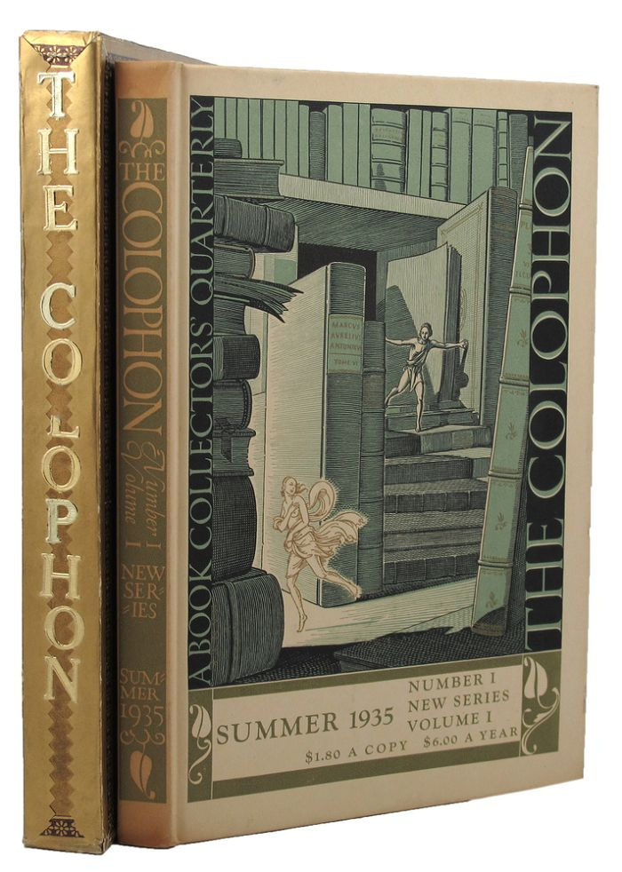THE COLOPHON: NEW SERIES. Elmer Adler, others.