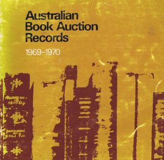 AUSTRALIAN BOOK AUCTION RECORDS, 1969-1970. Margaret Woodhouse, Compiler