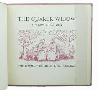 THE QUAKER WIDOW. Bayard Taylor