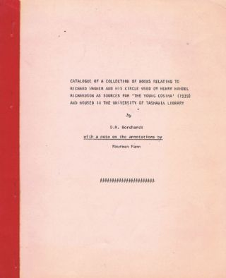 CATALOGUE OF A COLLECTION OF BOOKS relating to Richard Wagner and his circle. Henry Handel...