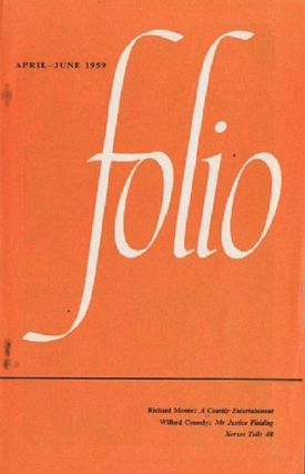 FOLIO, APRIL-JUNE 1959. Folio Society