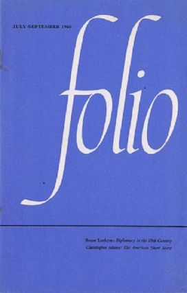 FOLIO, JULY-SEPTEMBER 1960. Folio Society
