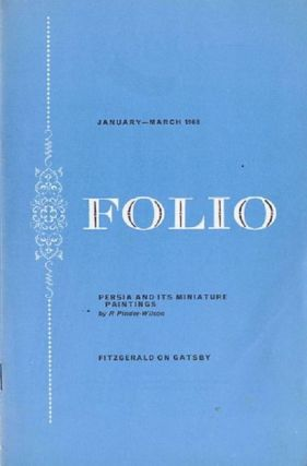 FOLIO, JANUARY-MARCH 1968. Folio Society