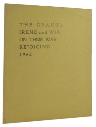 THE GRANTS ON THEIR WAY REJOICING. Irene Grant, Win