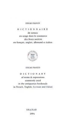 DICTIONARY OF TERMS & EXPRESSIONS. Edgar Franco.