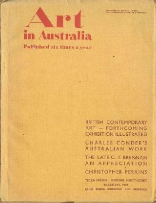 ART IN AUSTRALIA: THIRD SERIES, NUMBER FORTY-EIGHT. Art in Australia 03/48