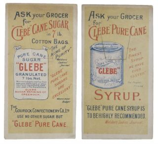 GLEBE PURE CANE SUGAR BOOKMARK. The Gourock Confectionary Co