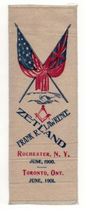 FRANK R. LAWRENCE. Masonic bookmarker.