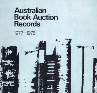 AUSTRALIAN BOOK AUCTION RECORDS, 1977-1978. Margaret Woodhouse, Compiler