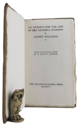 AN APOLOGY FOR THE LIFE OF MRS. SHAMELA ANDREWS. Henry Fielding
