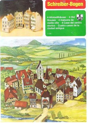 FOUR OLD HOUSES. Paper Model Kit, Schreiber-Bogen