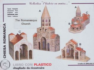 "THE ROMANESQUE CHURCH. Paper Model Kit, Collection ""l'histoire en mai."