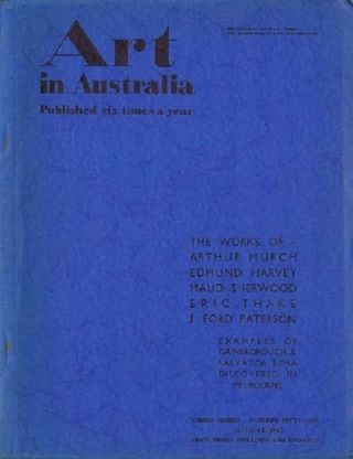 ART IN AUSTRALIA: THIRD SERIES, NUMBER FIFTY-ONE. Art in Australia 03/51