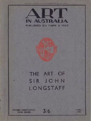 ART IN AUSTRALIA: THIRD SERIES, NUMBER THIRTY-SEVEN. Art in Australia 03/37.