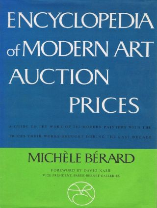 ENCYCLOPEDIA OF MODERN ART AUCTION PRICES. Michele Berard