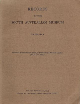 RECORDS OF THE SOUTH AUSTRALIAN MUSEUM. Herbert M. Hale
