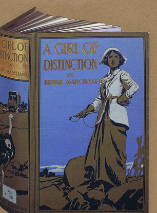 A GIRL OF DISTINCTION GREETING CARD. Bodleian Library cards.