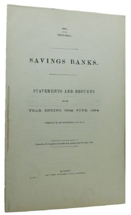 SAVINGS BANKS. Victorian Parliamentary Paper