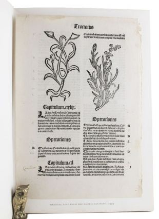 THE GARDEN OF HEALTH. Shaffer's The Garden of Health Leaf Book, c.1499