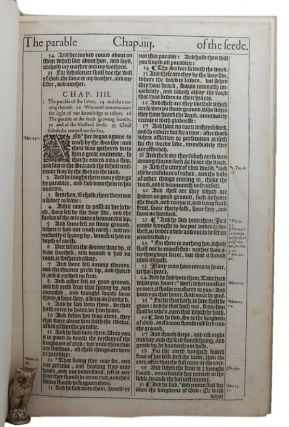 THE MAKING OF THE KING JAMES BIBLE. Bible Leaf Book, 1611, King James Version, Edwin Eliott...