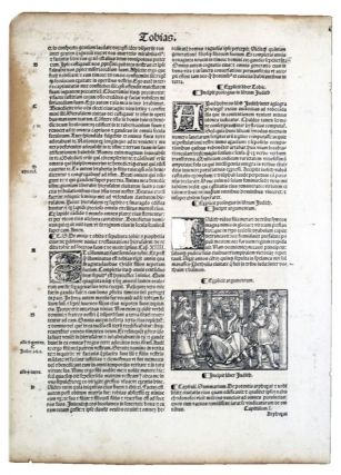 PAGES FROM THE PAST: ORIGINAL LEAVES FROM RARE BOOKS AND MANUSCRIPTS. The Bible., 15th-19th...