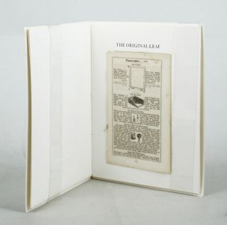 TYPOGRAPHIA JOHNSONIANA. Leaf Book, John Johnson, Printer