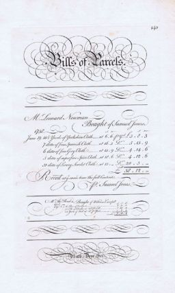 BILLS OF PARCELS. George Bickham