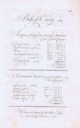 BILLS OF ENTRY. George Bickham