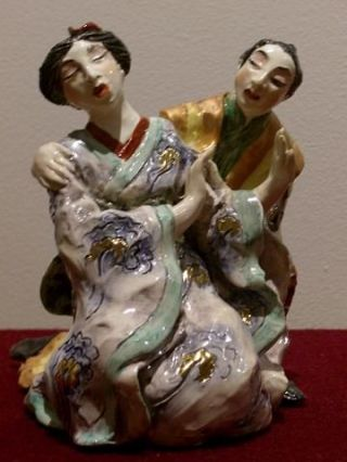 THE MIKADO: YUM-YUM AND NANKI-POO. Jennifer Gibney, Sculptor.