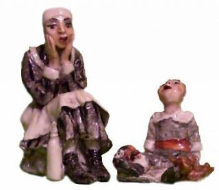 EXASPERATED NURSERY MAID. Jennifer Gibney, Sculptor
